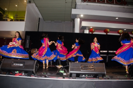 roving: Indian dance;Multicultural Festival, 17th August 2013, 5 pm  to 10 pm , Chinatown, Brisbane, Australia Editorial