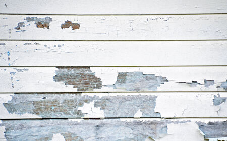 scrape: A wall with peeling paint