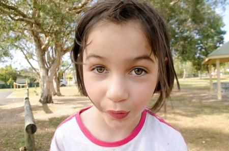 A cutie girl is in a good mood Stock fotó - 23021056