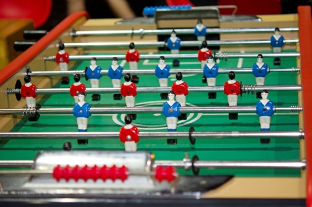 rt: Close up foosball table Stock Photo