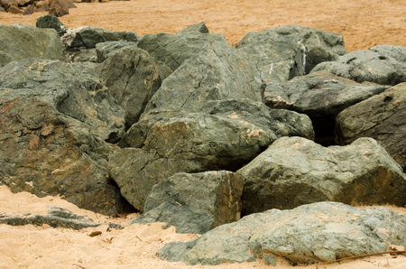 subdivided: Rocks on the beach
