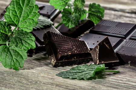 Dark chocolate Stock Photo