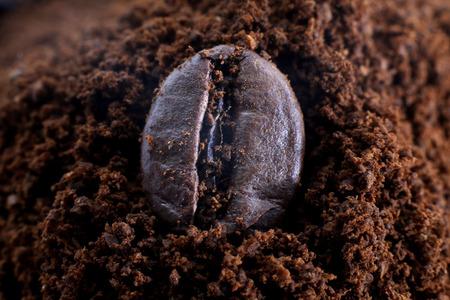 decaffeinated: Coffee bean on the ground coffee Stock Photo