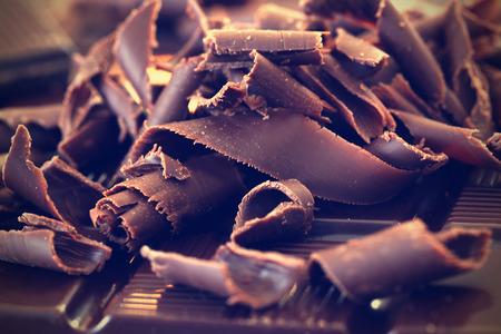 Donkere chocolade schaafsel Stockfoto