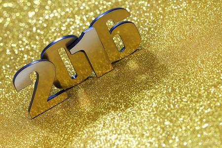 Año nuevo 2016 Foto de archivo - 45452616