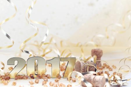 Feliz Año Nuevo 2017 Foto de archivo - 59202768