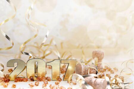 Feliz Año Nuevo 2017 Foto de archivo - 59202773