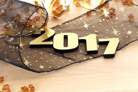 Feliz Año Nuevo 2017 Foto de archivo - 61839663