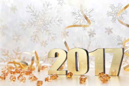 Feliz Año Nuevo 2017 Foto de archivo - 61839665
