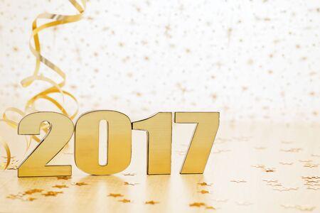 Feliz Año Nuevo 2017 Foto de archivo - 61839668