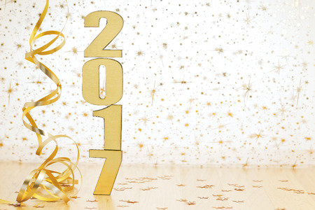 Feliz Año Nuevo 2017 Foto de archivo - 61839670