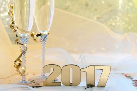 Feliz Año Nuevo 2017 Foto de archivo - 61839674