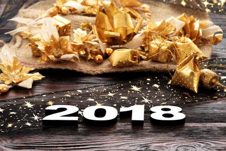 幸せな新しい年 2018 年 写真素材