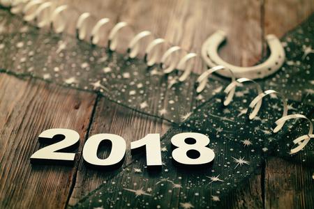 Frohes Neues Jahr 2018 Standard-Bild - 89434464