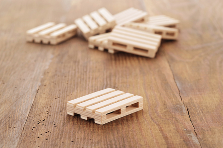 Wooden pallets on wooden background