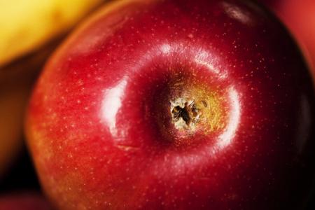 Close up bottom of apple Imagens
