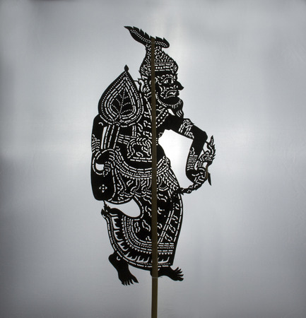 fairs: Shadow puppet was one form of public entertainment in the south of Thailand. It is still very popular at village festivals, temple fairs and celebrations such as marriages, etc. Stock Photo