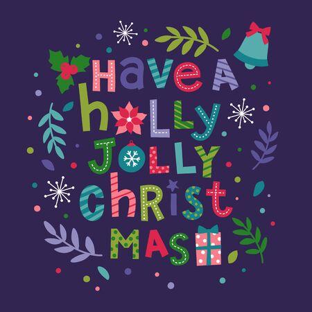 christmas greeting card: Christmas vector illustration. Holidays greeting card design. Illustration