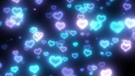 fluffy: fluffy hearts Stock Photo