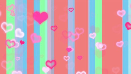 pastel colored: pastel colored line hearts
