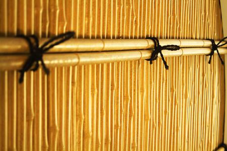 round window: Round window of bamboo Stock Photo