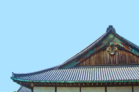 the Nijo castle in Kyoto, Japan Editorial