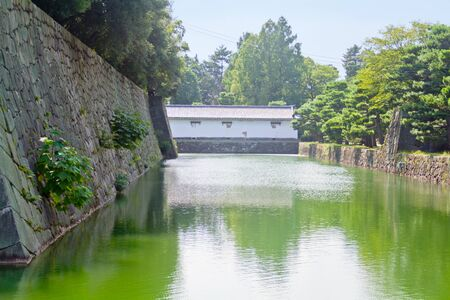 moat: moat of the Nijo castle in Kyoto, Japan