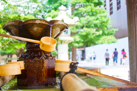 water place of japanese shrine