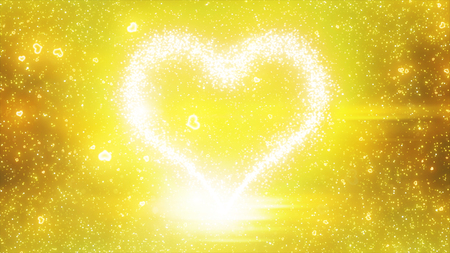 particle: heart sparkling particle Stock Photo