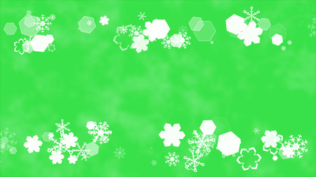 scroll background snow crystal