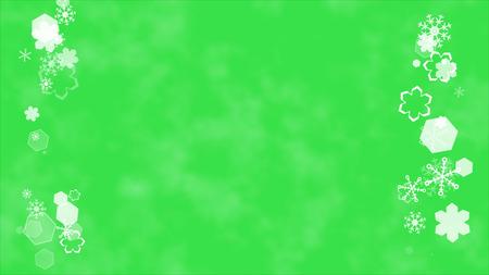 スクロール背景の雪の結晶