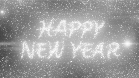 particle: sparkling particle text Stock Photo