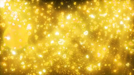 sparkling graphic particles and incident lights