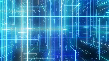 particelle grafiche scintillanti e le linee lucide