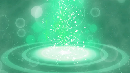 Mysterious shining particles