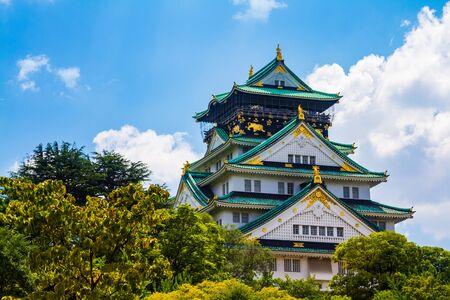 The Osaka castle in Japan 報道画像