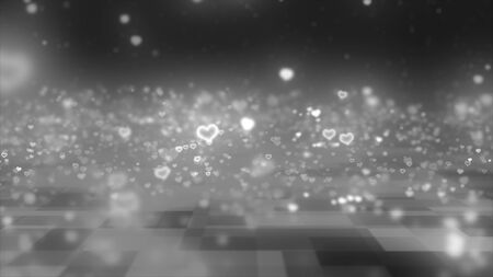 bounding: bounding heart shaped particles