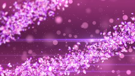 桜の花びら 写真素材