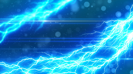 synthesis: Lightning and sparkling background Stock Photo