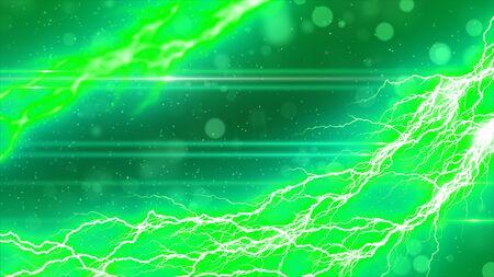 Lightning and sparkling background Stock Photo