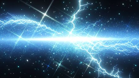 Lightning and sparkling particle effect