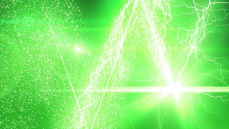 雷と輝く粒子効果