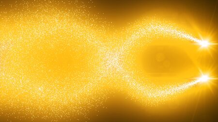 sparkling spiral particles