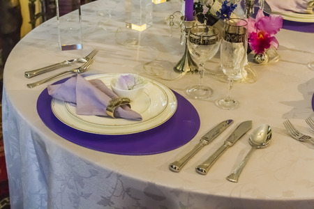 Setting the table Stock Photo