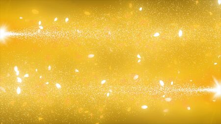 visual effects of sparkling graphic particles