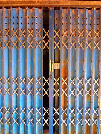 Old iron door in the local Thai Stock Photo - 7623479