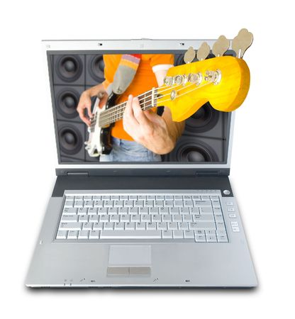 Digital Music (image contains clipping path for easy background removing) Stock Photo