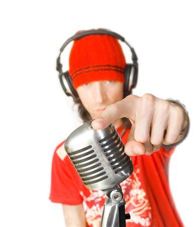 dj boy: DJ (Sayin Hey You!!) Stock Photo