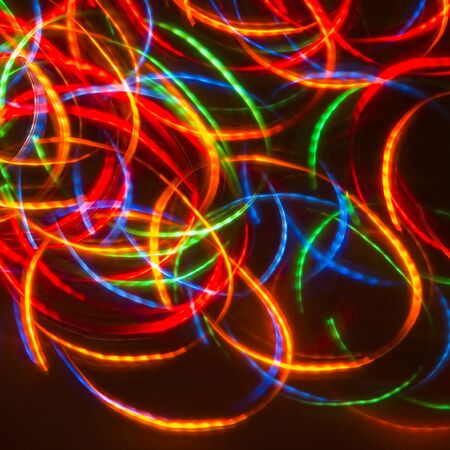 Dancing Neon Disco Lights (Ideal For CD-cover)
