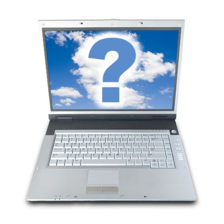 Technical Question (Question Mark On Laptops Screen (with clipping path for easy background removing if needed))